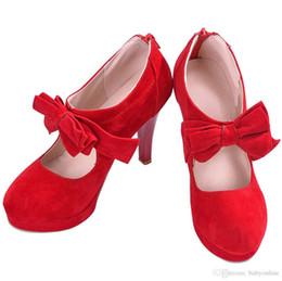 2019 rouge chaussures de mariage de mariée bout rond noeud papillon creux talon aiguille chaussures de mariage de haute qualité pas cher bottes femmes parti CPA1113 ? partir de fabricateur