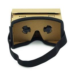 2019 iphone de los vidrios 3d de la cartulina Gafas de realidad virtual Gafas de cartulina Google Gafas 3D Caja VR Películas para iPhone 5 6 7 Auriculares SmartPhones VR iphone de los vidrios 3d de la cartulina baratos