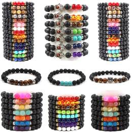 2019 Hot Yoga Lava Rock Armbänder Türkis Verwitterung Achat Gold Tiger Eye Fatima Hand Eule Armreifen Für Frauen Männer Geschenk von Fabrikanten
