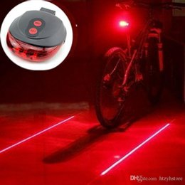 Bike Flashing Lamp Tail Light Rear Bicycle Safety Warning 2 Photon+5 LED