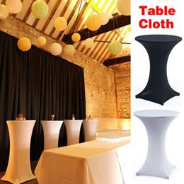 mesas altas Desconto Spandex apertado alta Alto Bar Cocktail Table Cloth elástico esticar Cocktail Table Covers Para Casamento Decoração de Eventos
