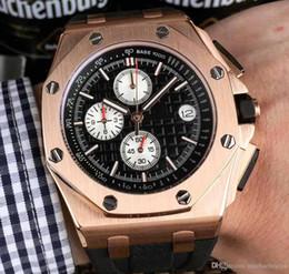 2020 relógios multi-funções homens 2018 relógio de alta qualidade dos homens 44MM multi-função de discagem de alta qualidade importado do Japão cronógrafo de quartzo pulseira original relógios desconto relógios multi-funções homens