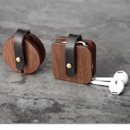 2019 conteneurs métalliques Organisateur d'écouteurs filaires en bois Box Ligne de données Câble Chaînes Cordon conteneurs métalliques pas cher
