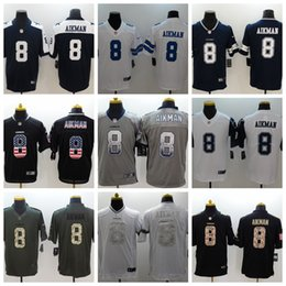 troy aikman jerseys Coupons - 2019 New Mens 8 Troy Aikman Dallas Cowboys  Football Jersey 100 c2aaed6ba