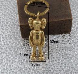 Bolsa de juguete de muñeca online-Venta al por mayor de moda Kaws muñecas llaveros cobre puro latón Keychians bolsa colgante KAWS originales falsos niños adultos juguetes de acción modelos juguetes de regalo