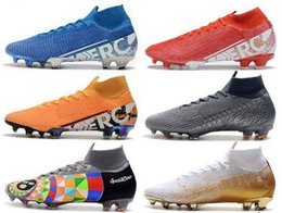 Stivali sotto online-Mens Sneaker alte scarpe da calcio Under The Radar Mercurial Superfly VII 360 Elite FG scarpe da calcio Neymar ACC Superfly cr7 Outdoor Tacchetti Calcio