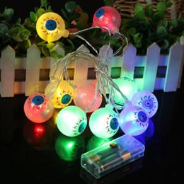 Canada Globe oculaire 10 Leds Horrible Party d'Halloween Chaîne Lumière Terreur Globe oculaire Strand lampe de poche Festival de Noël Décorations Offre