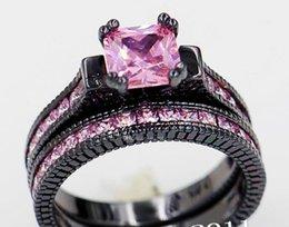 Crâne Design Violet Améthyste Anneau Mariage 10KT Or Noir Fête Taille 5-11