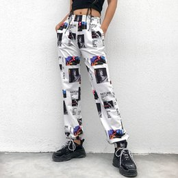 Rockmore Punk Jeans Womens Denim Cargo Pants With Chain Streetwear High Waist Trousers Plus Size Harajuku Pant Femme Fall Winter