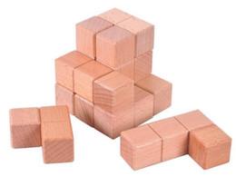 Geist würfel online-Holzwürfel Soma Puzzle Mind Brain Teaser Holzspiel für Erwachsene Kinder