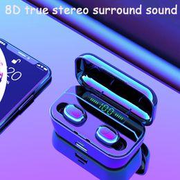 Auriculares bluetooth auricular tws orejas dobles en la oreja Pantalla LED Con 3500mAh almacén cargado puede cargar el teléfono 1PCS entrega desde fabricantes