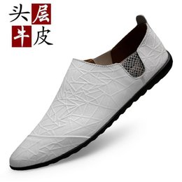 3d930785108d1 Première couche de peau de vache chaussures de sport en cuir de printemps  des hommes chaussures fond mou de la peau douce une pédale paresseux