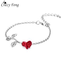 Fou Feng Vintage Rose Fleur Charmes Bracelets À La Mode Femelle LinkChain Bracelet Bracelets De Noce Bijoux De Demoiselle D'honneur Cadeau ? partir de fabricateur