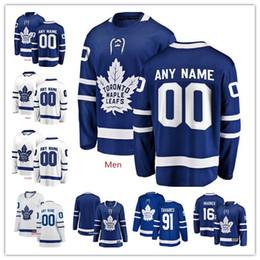 2019 хоккейные майки персонализированные Пользовательские Торонто Maple Leafs 91 Джон Таварес Остон Мэтьюс любое имя номер персонализированные трикотажные изделия мужские женщины молодежь хоккей сшитые Джерси дешево хоккейные майки персонализированные