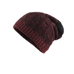 2019 crochet bonés Moda mulheres engraçadas chapéu Crochet Inverno Quente Malha De Lã Villus Gorro Crânio Slouchy Caps Chapéu Mais Grosso inverno feminino crochet bonés barato