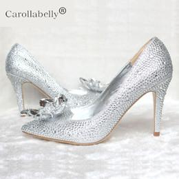 2019 Primavera Nueva Rhinestone Tacones Altos Zapatos de Cinderella Mujeres  Bombas 5 cm 7 cm 9 cm tacón Mujer Cristal Zapatos de Novia de boda boda  tacones ... 2319d4cf5ce9