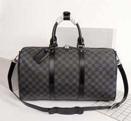 grandes bolsos de piel sintética Rebajas Keepall 45 50 55 clásico rápido estilo de cuero real de los hombres bolsa de viaje ocasional bolso de totalizadores crossbody para el hombre de las señoras