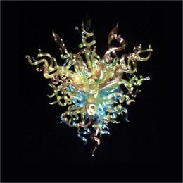 2019 fate luce porcellana Centrotavola di nozze multi colore soffiato borosilicato soffiato lampade a sospensione lampadario in vetro soffiato a mano per la decorazione domestica di hotel