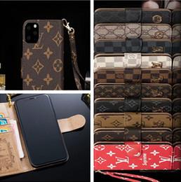 telefon brieftasche flip cover fall Rabatt Luxusmode-Mappen-Telefon-Kasten für IPhone X XS MAX XR 8 7 6s Plus-11 Pro-Schlag-Leder Handy Shell-Abdeckung für Galaxie S10 S9 S8 Hinweis 9 10