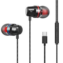 Pro-headset online-USB Typ C Kopfhörer Stereo Bass Kopfhörer Mit Mikrofon Typ C Headset USB-C Ohrhörer Für Xiaomi Mi 6 8 9 Huawei P20 Pro