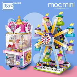2019 cidade brinquedo diy Loz Mini Blocos de Parque de Diversões Tijolo Blocos de Construção de Brinquedos Para Crianças Montagem Diy Crianças Rua Da Cidade Vista Educacional 3d Modelo Y190606 cidade brinquedo diy barato