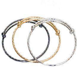 Pulseras europeas de acero inoxidable. online-Moda de seis caras rombo push-pull tamaño ajustable brazalete DIY joyería de acero inoxidable pulsera del encanto europeo