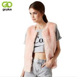 Coleira pele rosa on-line-GOPLUS Primavera Faux Fox Fur Vest 2018 Vetement Femme Moda Colete de Inverno Gilet Fourrure Femme Rosa Faux Fur Mulheres Colete C4393