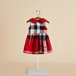 Muñecas chinas online-Versión coreana de verano del vestido de los niños Sin mangas del cuello de la muñeca vestido de los niños chinos niños descuento niñas princesa vestido