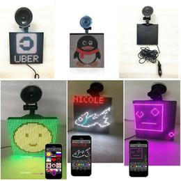 Carro do emoticon on-line-Controlado Emoji Emoticon carro sem fio Bluetooth App Animated LED Display Decor