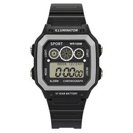 спортивные наручные часы Скидка High End 50 Meters Waterproof Electronic Watch  Men Analog Digital Watch  Sport LED Square The Man Wrist #S