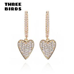 joyas de oro Rebajas Nuevos pendientes de aro de oro de circonita cúbica de moda Pendientes de amor de círculo redondo de lujo para mujeres y niñas Fashion Jewlry 2019