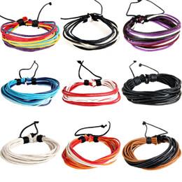 Shellhard Handgewebte Modeschmuck Wrap Multilayer Geflochtenen Seil Kette Armband für Frauen Charme Wachsschnur Hippie Armbänder von Fabrikanten