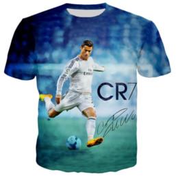 La más nueva Moda Caliente Divertido Cristiano Ronaldo camiseta Mujer Hombre Verano Unisex Impresión 3D de Manga Corta de Cuello Redondo Tops Casual Estilo Hip Hop Q589 desde fabricantes