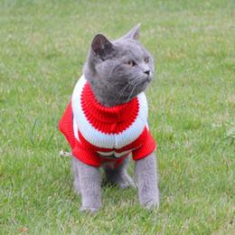 2019 gatinhos de camisola Lazer Pet Cat Sweater Inverno Quente Algodão Gato Roupas para Pequenos Gatos Gatinho Casaco Jaqueta Kitty Malha Blusas Pet Roupas Para Cães gatinhos de camisola barato