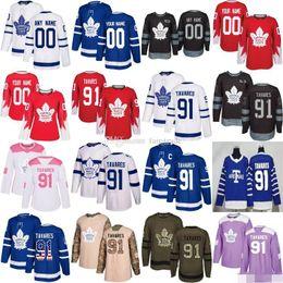 Kadri jersey online-Custom Toronto Maple Leafs White Stadium Series de la serie Any Number Name hombres mujeres jóvenes niños ARENAS Blue Marner Kapanen Kadri Rielly Tavares