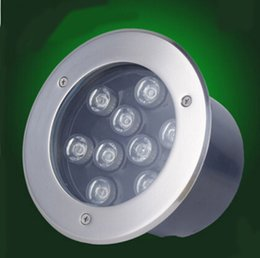 Rgb led spot light 9w online-Fanlive 3 unids RGB 9w Lámparas subterráneas Ip67 Impermeabilizado enterrado de la planta baja Luces empotradas Spot Led Iluminación de jardín al aire libre