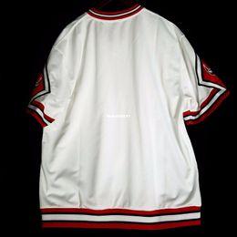 100% genäht Großhandel leer Mitchell Ness Großhandel Home Shooting Shirt Mens Weste Größe XS-6XL genäht Basketball Trikots Ncaa von Fabrikanten