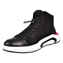 b9baee224893de chaussures décontractées pour hommes coréen Promotion Cuir véritable Cuir Hommes  Chaussures montantes hommes coréens Casual Mocassins
