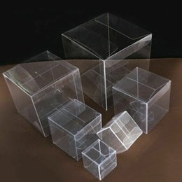 latas redondas de regalo Rebajas 100pcs Magdalena de la boda caja de PVC transparente cajas de torta transparente con fiesta de la boda dentro de la base cajas de regalo K13
