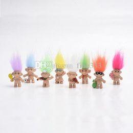 2019 mario koopa garoto O jardim de infância New Kawaii Troll cabelo colorido Boneca Membros da família Troll Presentes Boy Girl Trolls brinquedo