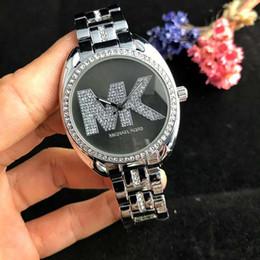 Marques de montres de luxe haut de gamme en Ligne-2019 Marque de luxe M mode femmes montre AAA haute qualité en acier de diamant ceinture femme d'affaires casual haut de gamme dames noble montre à quartz