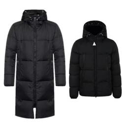2019 vestes à col montant imperméables 2020 ventes Hot Top qualité Mens Designer doudounes chaud épais lettres à capuchon de broderie Veste d'hiver Casual veste vers le bas long manteau
