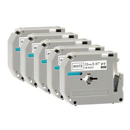 formatador hp Desconto Kingroad Preto em Branco M-K231 mk231 m-k231 12mm fitas de etiquetas térmicas compatíveis para P-touch impressoras de etiquetas térmicas