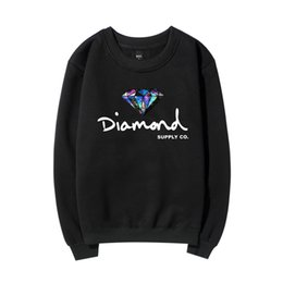 mens diamante sudadera Rebajas Mens Designer Diamond Hoodies Otoño Invierno Primavera 2019 New Fleece O-neck Supply CO Sudaderas