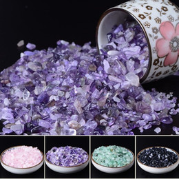 chip rock Coupons - 50g High Quality Natural Purple Quartz Crystal Stone Rock Chips Lucky Healing Enjoy The Sight of Crystal Fish Tank Crystal Stone