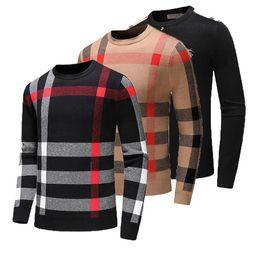 Camisola feminina de pulôver de malha on-line-Camisolas dos homens de lã de luxo designer de camisola dos homens o pescoço casual tricô jumpers camisolas dos homens longos pullovers famosa marca mulheres suor