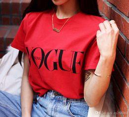Wholesale Designer de moda New Street Leading Tendências Da Moda Camisolas das Mulheres Carta Prints Solto Manga Curta Verão T Shirt Das Mulheres