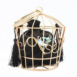 2019 fête des oiseaux Élégant Sac De Chaîne En Métal Creux Cage Embrayage Birdcage Forme Fourre-Tout Soirée Embrayages De Soirée Sacs À Main Pour Femmes Dames De Mode Sac À Main fête des oiseaux pas cher