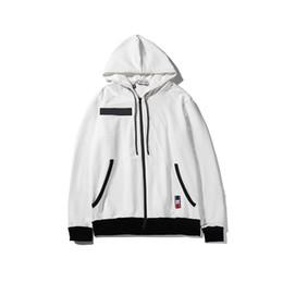 casaco branco redondo para pescoço Desconto Designer Mens Casaco Marca Two White Mangas Compridas Em Torno Do Pescoço Moda Casual Casuais Homens Mulheres Primavera Outono Casaco