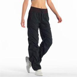 Sport hosen tanzen online-2019 Lulu Yoga Dance Studio keucht hohe Turnhallen-Sport-entspannte Dame Loose Pants